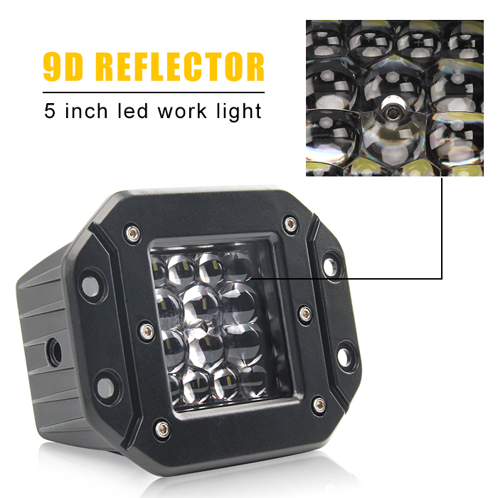 "5"" 9D Reflector Quad Row LED Pods JG-995DW-14"