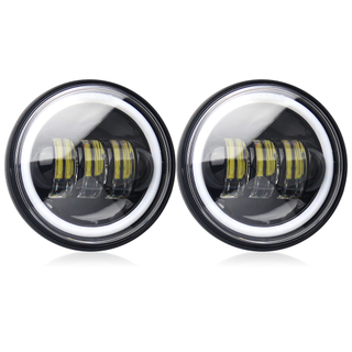 "4.5"" Inch LED Fog Lights with Angel Eyes for Harley Motorcycle JG-W002B"