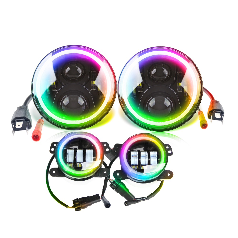 Dancing Color Halo Ring headlight and foglight kit JG-JT02