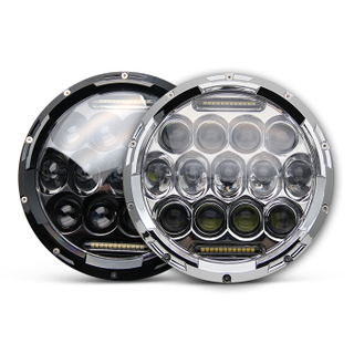 Ultra thin 7 inch dot SAE angel eye round LED headlight JG-J005T