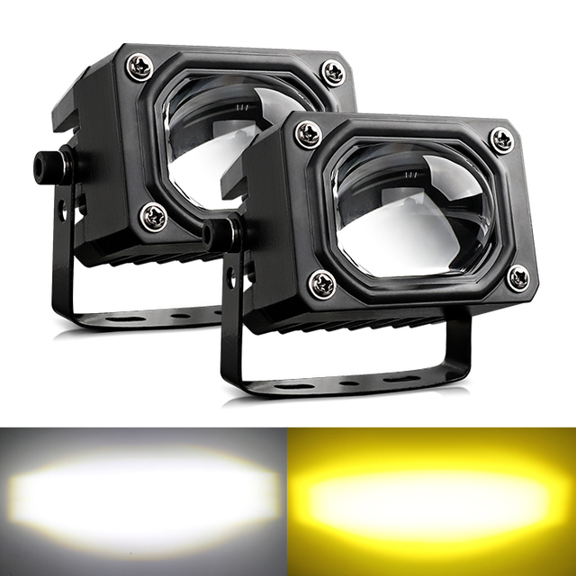 2.6 Inch Motocycle Off Road External Dual-Color Flashing Led Work Light with Big Lens JG-993B